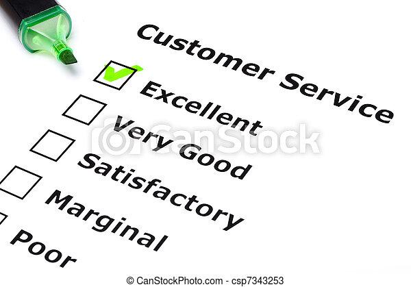 Customer service survey - csp7343253