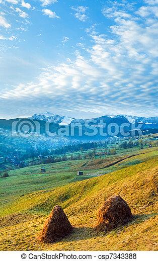 Daybreak in mountain - csp7343388
