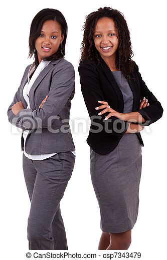 African american business women's with folded arms - csp7343479