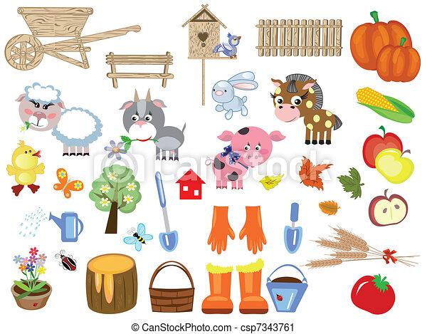 Agriculture , big set  - csp7343761