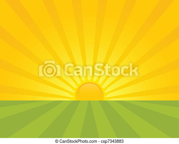 Sunrise. - csp7343883