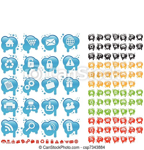 Icon set on splats - csp7343884