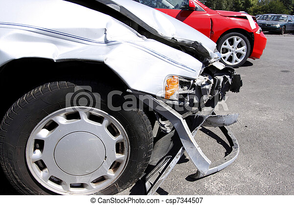 Wrecked automobile - csp7344507