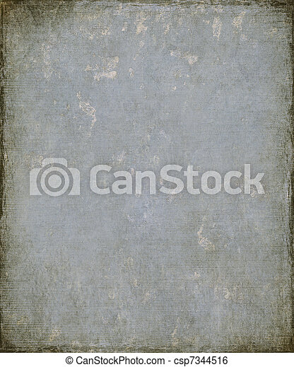 Faded Blue Grunge Plaster with Burnt Frame - csp7344516