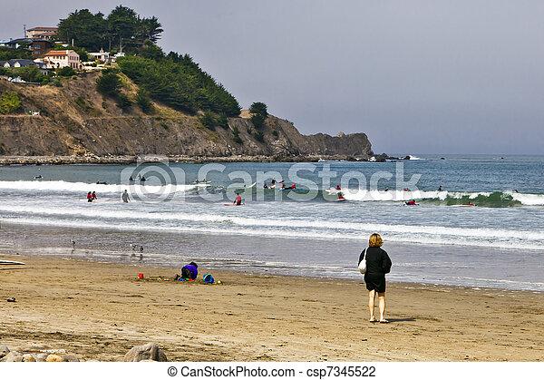 Beach Tourist - csp7345522