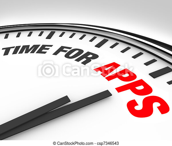 Time for Apps Clock Need to Program Mobile Applications - csp7346543
