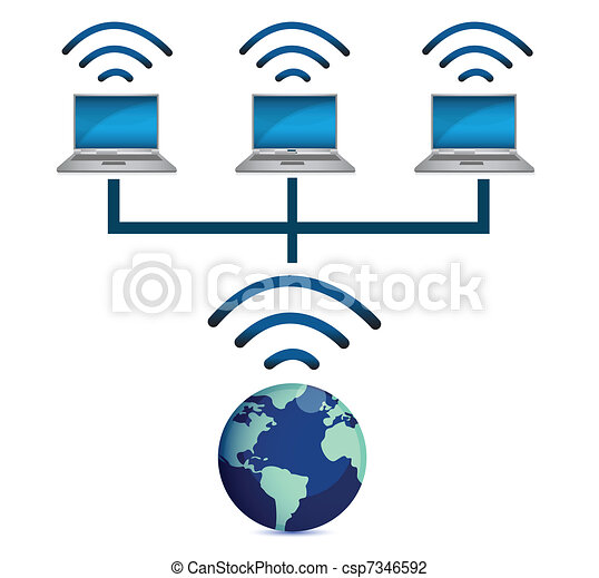 laptops wireless connected - csp7346592