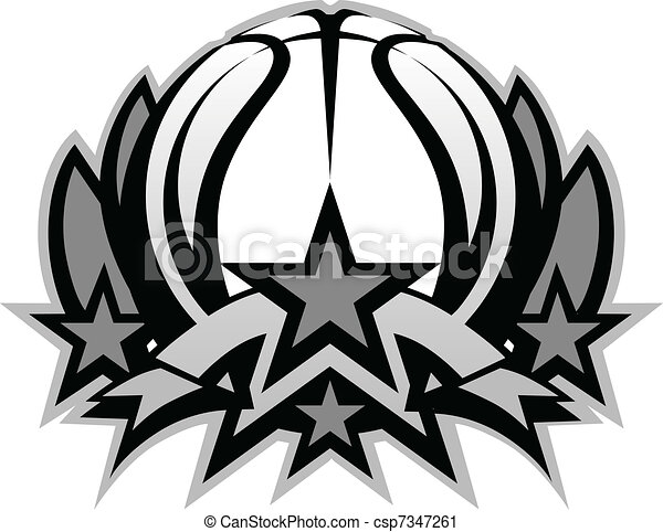 Basketball Ball Vector Graphic Temp - csp7347261