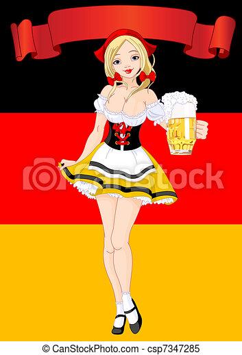 Oktoberfest Celebration Background - csp7347285