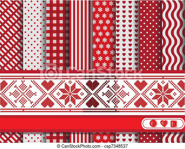 Christmas scrapbooking red - csp7348537