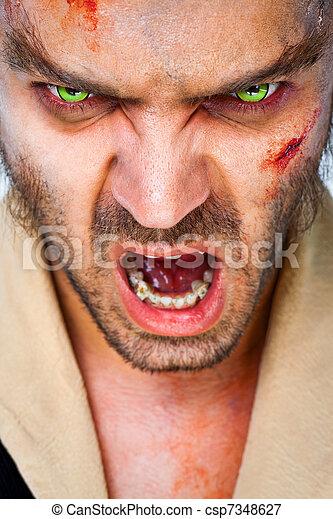 zombie scary eyes - csp7348627