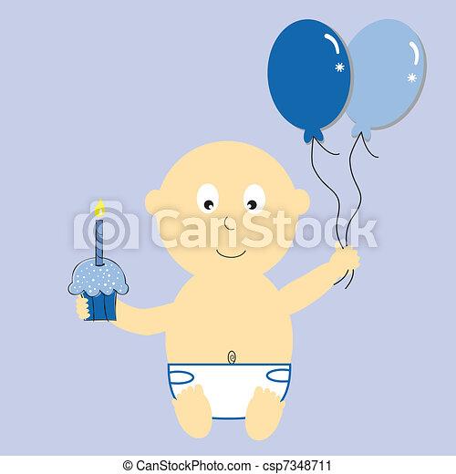 Baby Boy's First Birthday - csp7348711