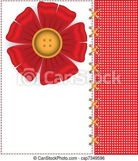 Red flower on a white peas - csp7349596