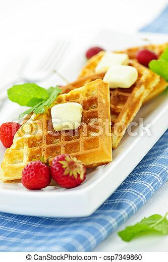 Belgian waffles - csp7349860