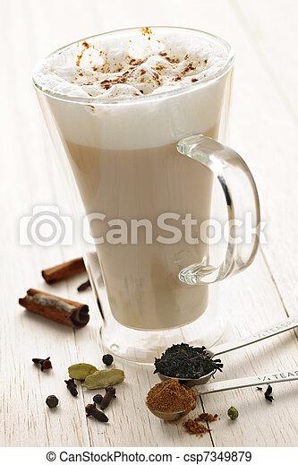 Chai Latte drink - csp7349879