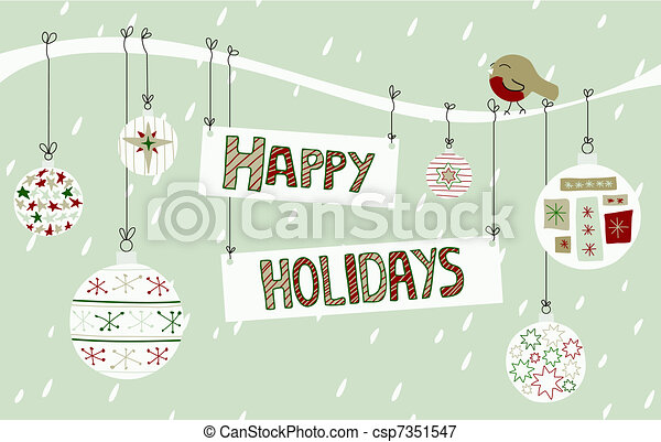 Happy Holidays Background - csp7351547