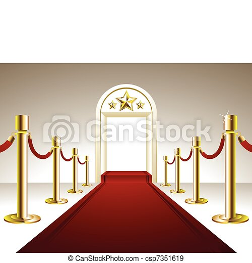 Red Carpet Entrance - csp7351619