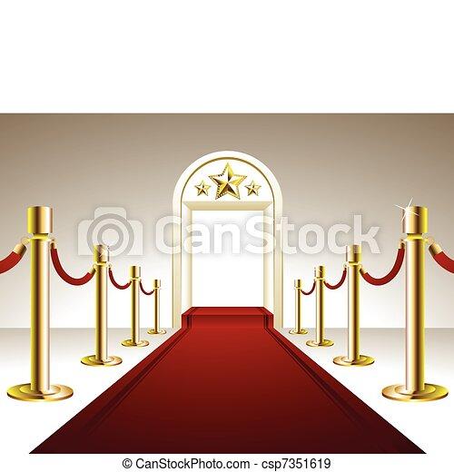 Red Carpet Entrance - csp7351619