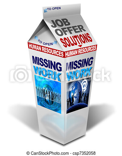Milk missing work - csp7352058