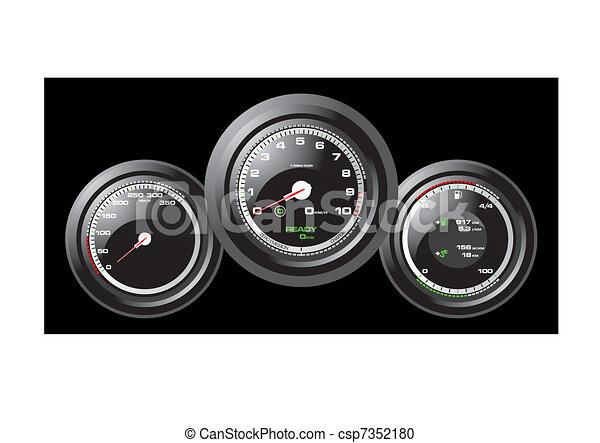 Racing Car Speedometer - csp7352180