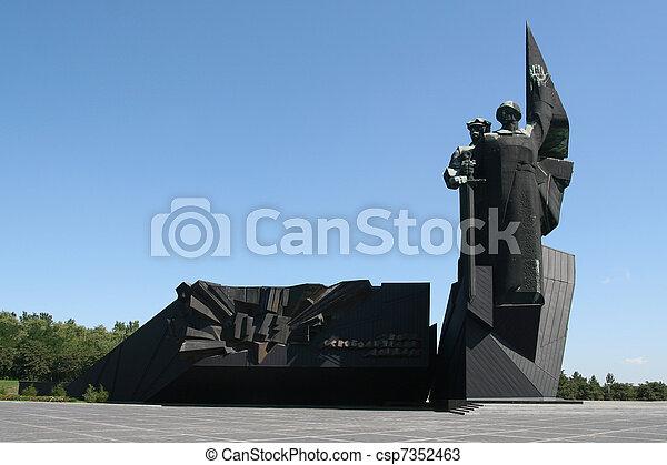 Monument in Donetsk / Ukraine - csp7352463