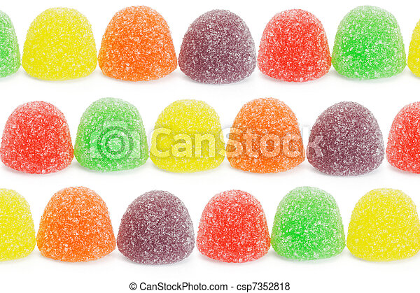 Multicolor soft jelly candies - csp7352818