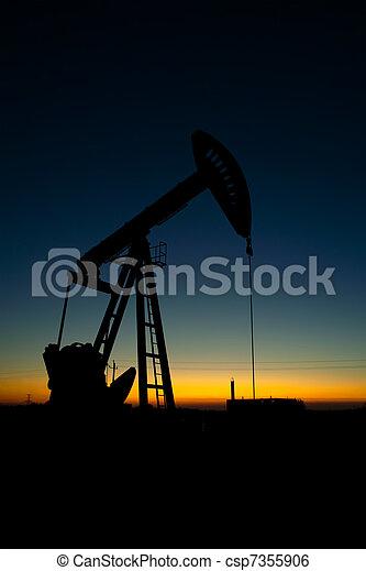 Pump jack silhouette - csp7355906