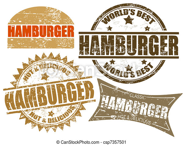 Hamburger stamps - csp7357501