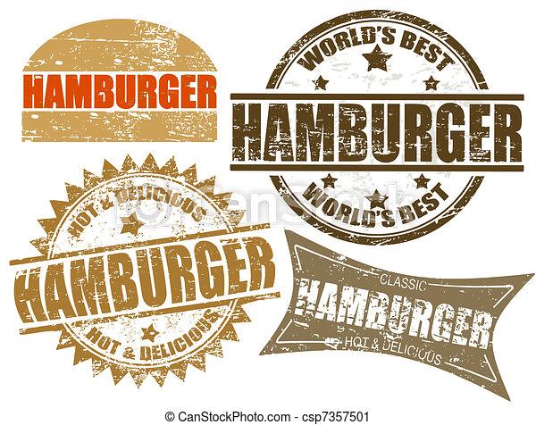 Hamburger stamps - csp7357501