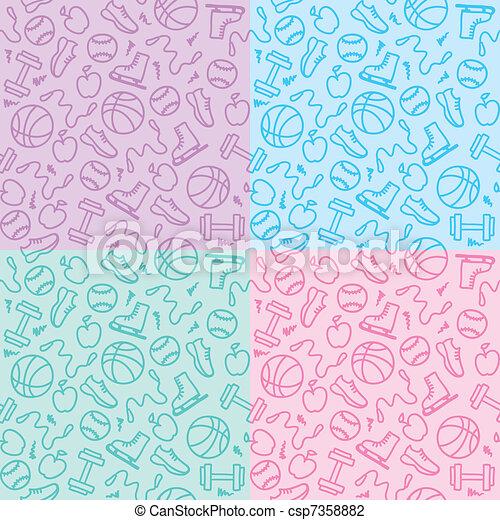 sport patterns - csp7358882