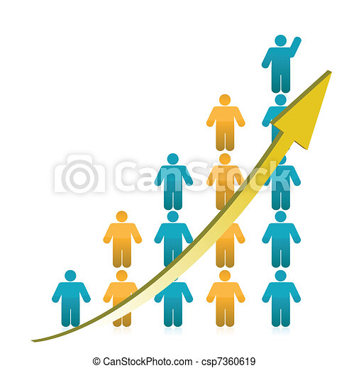 people Graph Showing Growth - csp7360619