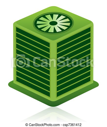 Green Air Conditioning Unit Icon - csp7361412