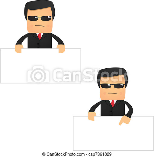 set of funny cartoon security - csp7361829