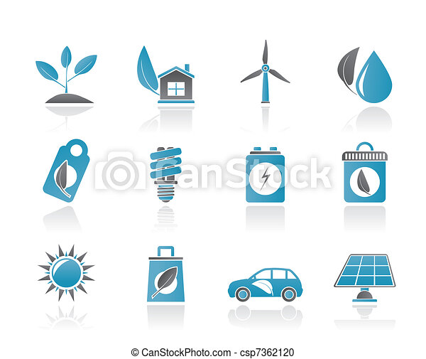 Green and Environment Icons  - csp7362120