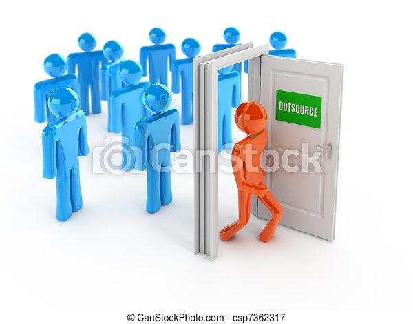 Outsource 3d concept - csp7362317