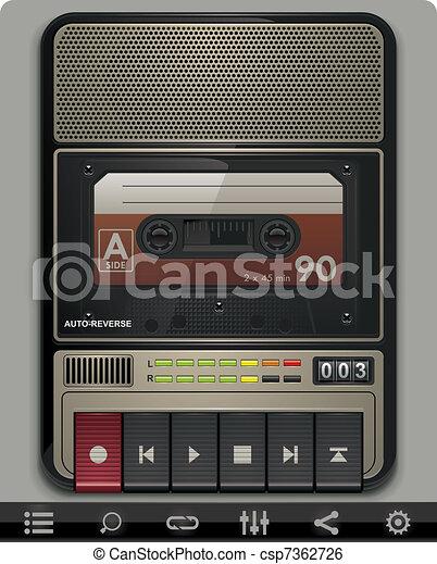 Vector cassette recorder template - csp7362726