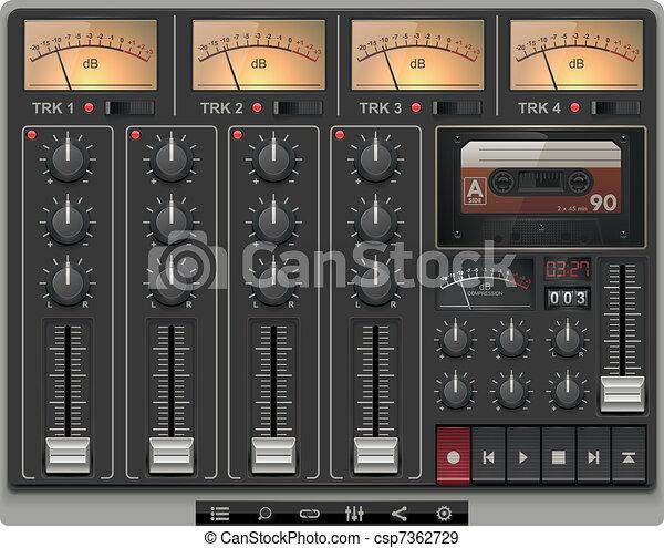 Vector portable recording studio - csp7362729