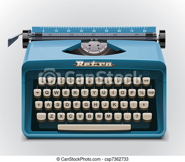 Vector typewriter XXL icon - csp7362733