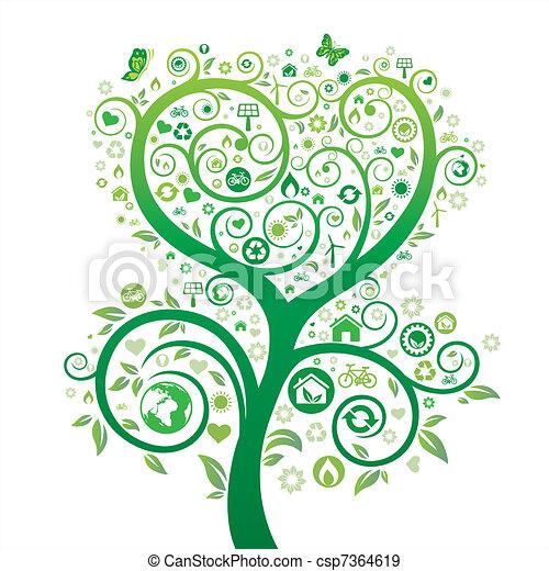 nature environment theme design - csp7364619
