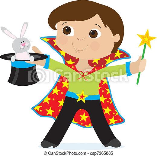 Boy Magician - csp7365885