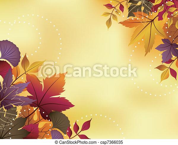 Fall Leaf Background  - csp7366035