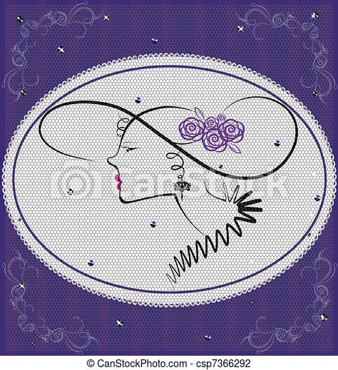 background violet lady - csp7366292