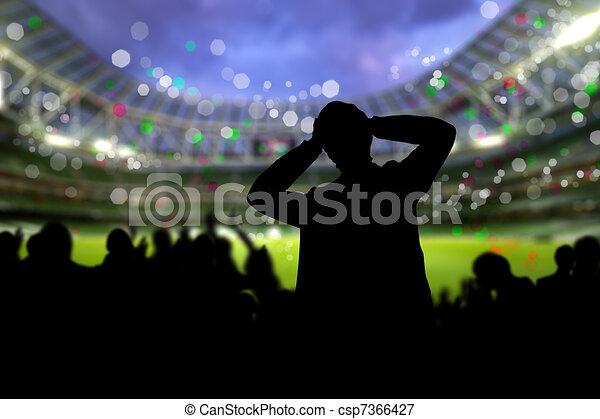 Crowd on the stadium - csp7366427