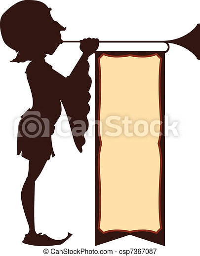 Court Trumpeter Illustration - csp7367087