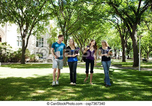 University Friends on Campus - csp7367340