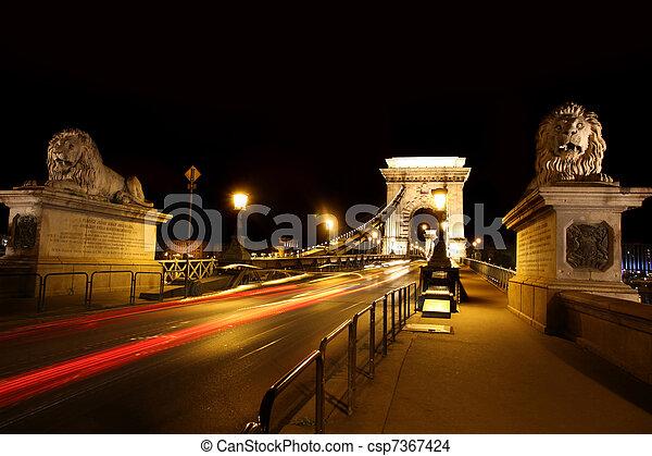 chain bridge in Budapest, Hungary - csp7367424