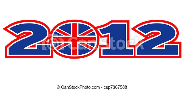 London 2012 British Union Jack flag - csp7367588