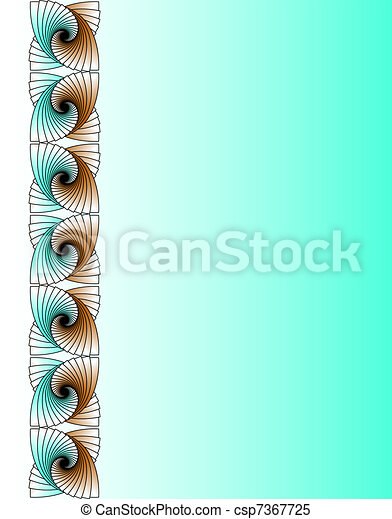 Abstract vertical fractal wallpaper - csp7367725