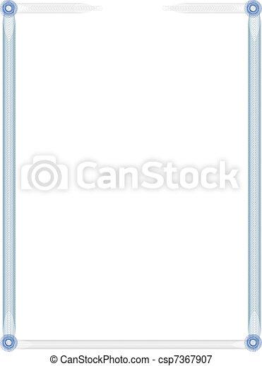 Certificate Template — Fill & Print Series - csp7367907