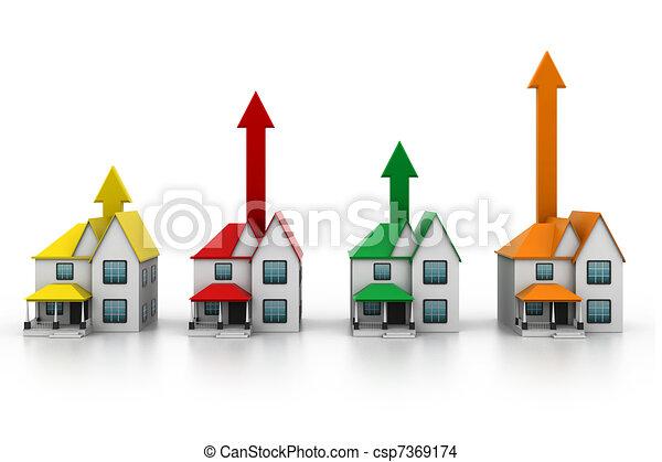 Growing home sale - csp7369174